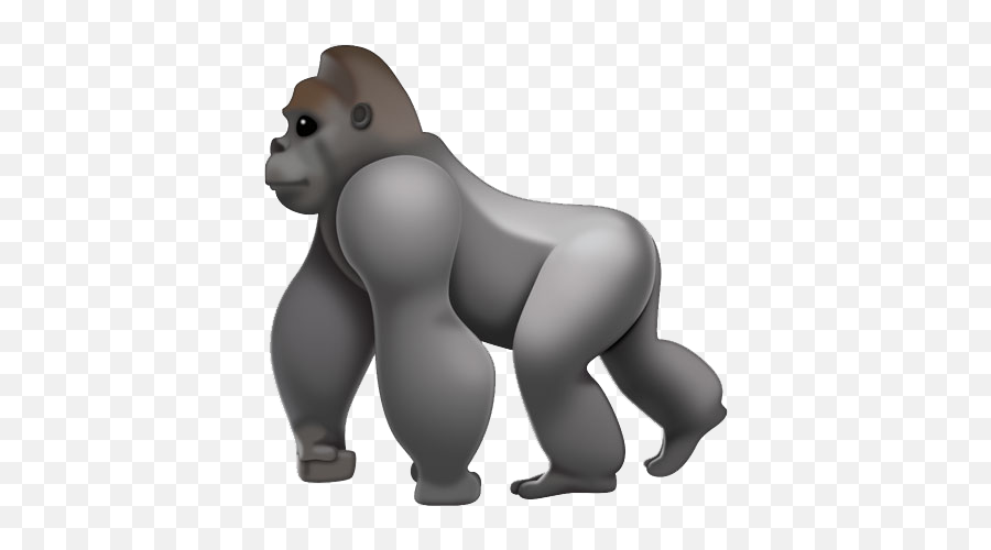 Gorilla Emoji Transparent Png,Gorilla Emoji
