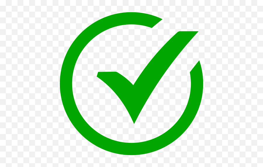 Success Green Check Mark Icon Png And - Green Check Mark Icon Emoji,Check Mark Emoji