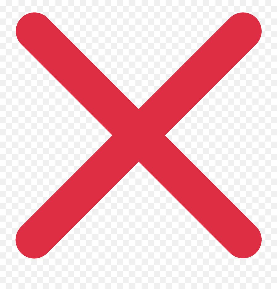 Cross Mark Emoji - Cross In Red Colour,Cross Emoji