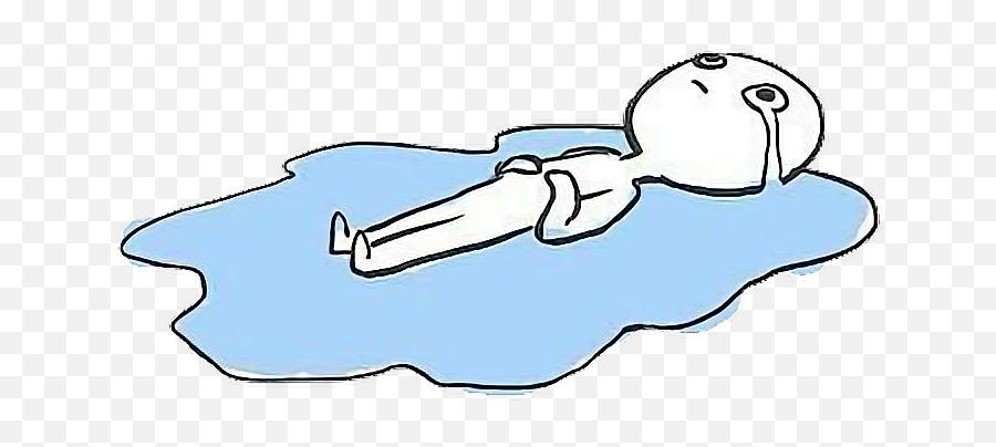 Oreo Clipart Emoji - Crying In The Floor Meme,Crying Emoji Meme