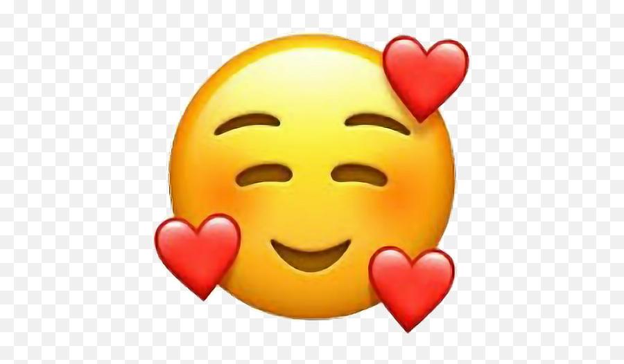Loveyou Emoji Iphone Hearts Loveee - Emoji Heart Face Png,I Love You Emoji