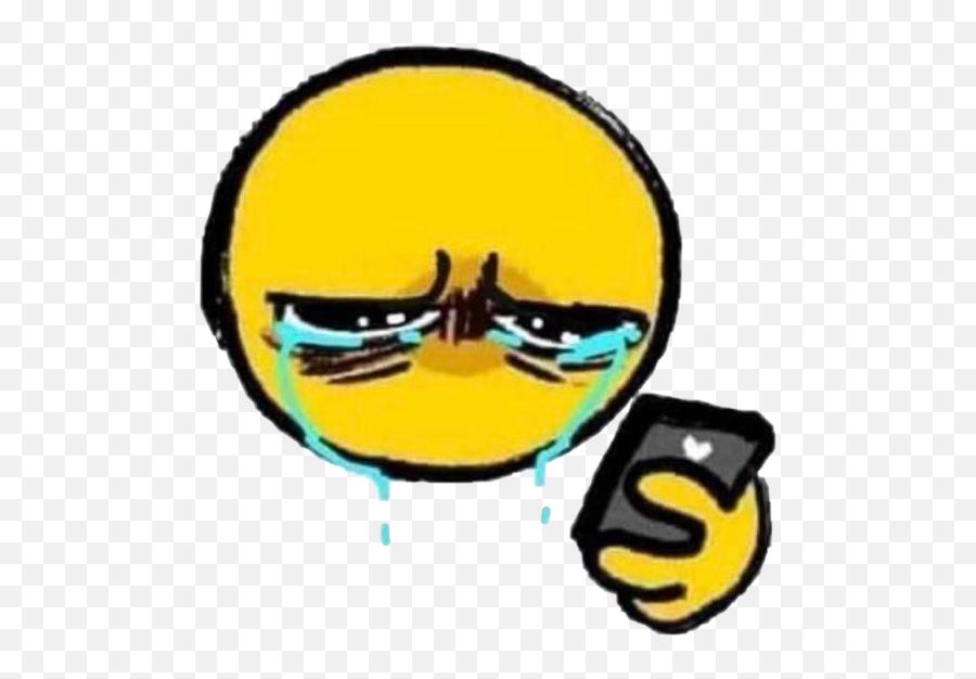 Cursedemoji Cursed Sticker - Cursed Emoji Crying,Cursed Emoji Cry