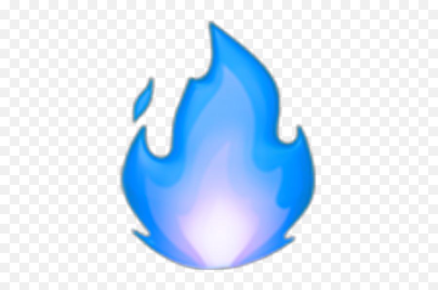 Blue Fire Bluefire Emoji Ios Sticker - Blue Fire Emoji,Fire Emoji