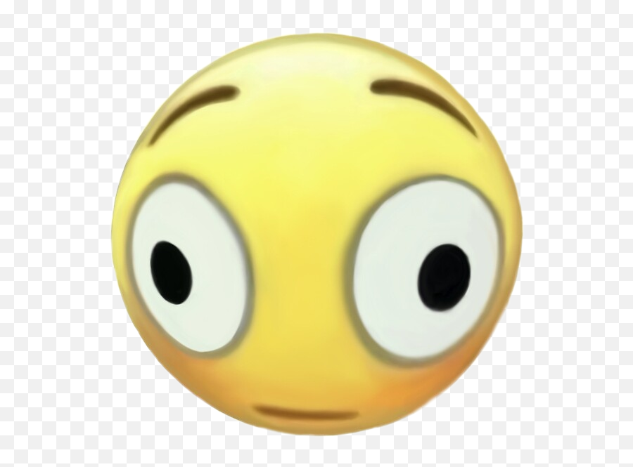 Deep Fried Flushed Emoji,Blushing Emoji