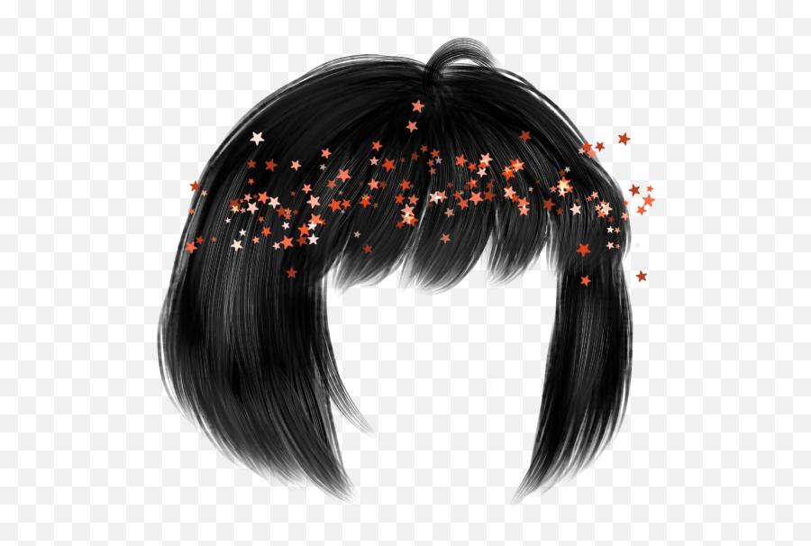 Aestetic Hair Sticker - Picsart Gacha Life Hair Edit Emoji,Hair Fli Emojis