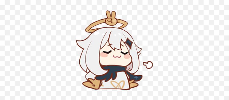 Genshinimpact Genshin Paimon Smug Chibi Sticker By K - Genshin Paimon Sticker Emoji,Smug Anime Emoji